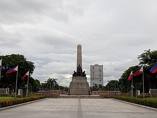 Rizal Park historic urban park located in Manila, Philippines