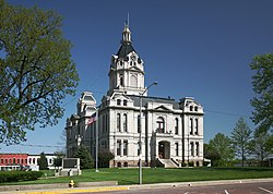 Parke County courthouse in Rockville, Indiana