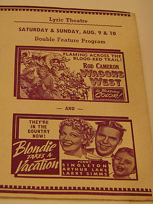 Penny Singleton - Poster for Blondie Takes a Vacation (1939), Singleton's second Blondie film