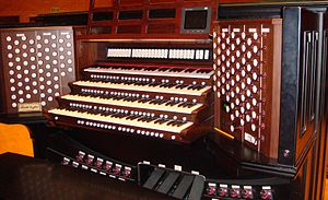 Rodgers Instruments - Rodgers organ console for the Fratelli Ruffatti pipe organ at BYU-Idaho