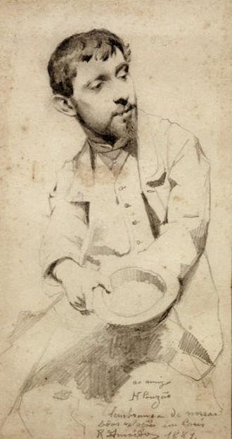 Henrique Pousão - Image: Rodolfo Amoedo Retrato de Henrique Pousão, 1881