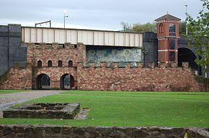 History of Manchester - A reconstructed gateway of Mamucium fort