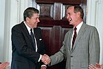 Ronald Reagan meeting with George H. W. Bush in the Cabinet Room.jpg