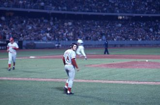 Pete Rose - Rose walks onto the field with the Cincinnati Reds