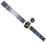 Rosetta spacecraft (transparent bg, rotated).png