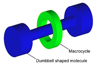 Nanotechnology - Graphical representation of a rotaxane, useful as a molecular switch.