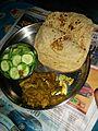 Roti sabji salad(bihari dinner).jpg