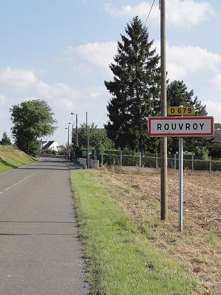 Rouvroy (Aisne) city limit sign