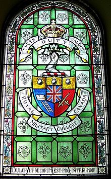 Royal Military College of Canada stained glass window St. Andrew's Presbyterian Church (Kingston, Ontario).JPG