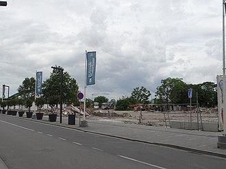 Savamala - Remains of demolished buildings in Hercegovačka street in Belgrade (May 14, 2016)