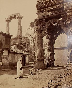 Rudra Mahalaya Temple - Ruins of main portal, Toran, of Rudra Mahalaya, 1874