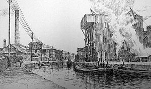 Runcorn - Soap and alkali works on the Bridgewater Canal during the 19th century