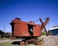 Rusted steam shovel at Sloss Furnaces National Historic Landmark, Birmingham, Alabama LCCN2011630712.tif