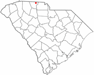 Battle of Kings Mountain - Map spot for Blacksburg, South Carolina