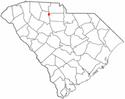 Location of Lockhart, South Carolina