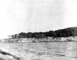 Battle of St. Johns Bluff - St. Johns Bluff around 1900.