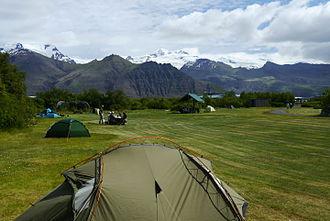 Skaftafell - Image: SKF Skaftafell campsite GO