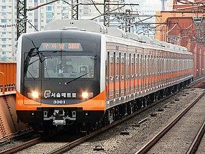 Seoul Subway Line 3 - Image: SMSC EMU3000 VVVF 301