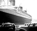 SS Normandie in NYC Harbor at Pier.jpg