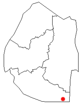 Lavumisa - Location of Lavumisa in Eswatini