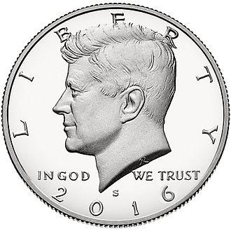 Half dollar (United States coin) - Image: S Half Dollar Obverse 2016