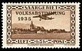 Saar 1934 198 Volksabstimmung, Flugpost Focke-Wulf A 17, Flughafen Saarbrücken.jpg