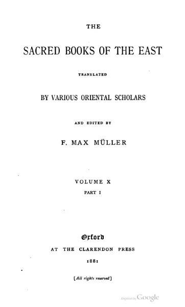 File:Sacred Books of the East - Volume 10.djvu