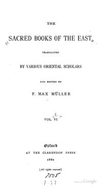 Sacred Books of the East - Volume 6.djvu