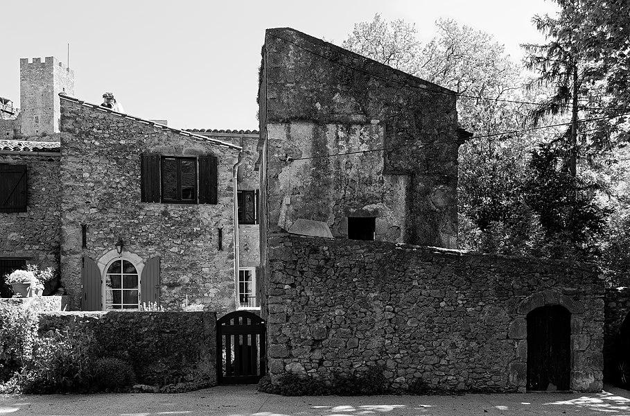 Old houses (Rue le Plan de la Croix) in the village of Saint-Jean-de-Buèges, Hérault, France