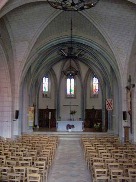 Nava of the church of Saint-Symphorien (Gironde, France)