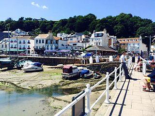 Saint Aubin, Jersey Harbour in Saint Aubins Bay, Jersey