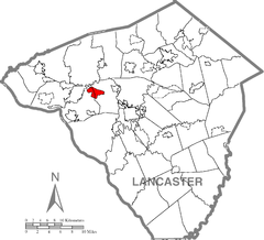 Salunga-Landisville, Lancaster County Highlighted.png