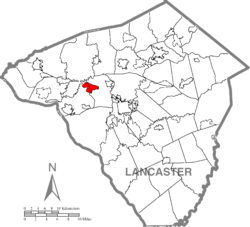 Location within Lancaster county