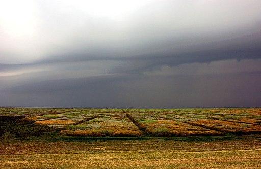 Salzwiese bei Gewitter