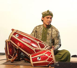 Kendang - A member of the Sundanese Gamelan quintet SambaSunda a member of the very weird family playing Kendangs.