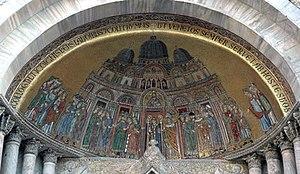 Mosaico del portal de San Alipio de la basílica de San Marcos (siglo XIII).