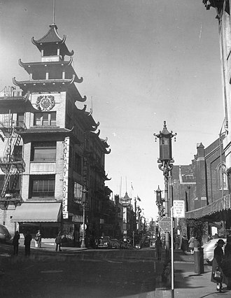 "Flower Drum Song (film) - Grant Avenue, Chinatown's ""western street with eastern manners"" (1945)"