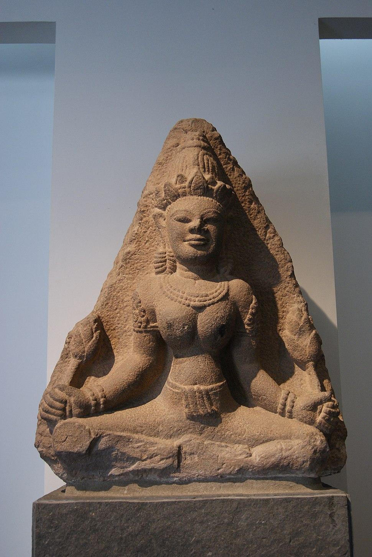 Sandstone Lakshmi statue (10th century), Museum of Vietnamese History, Ho Chi Minh City - 20121014