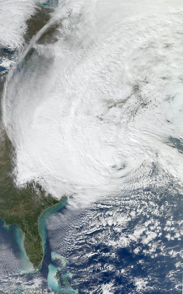 NASA's Aqua satellite image of Hurricane Sandy
