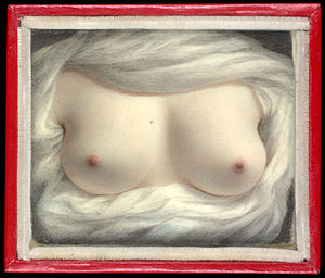 miniature of a woman's breasts