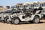 Saudi Arabian M151 light utility vehicles with recoilless rifles