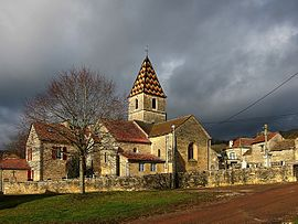The church in Savigny-sous-Mâlain
