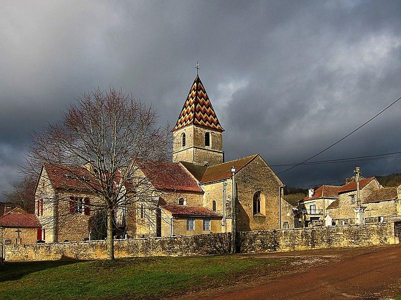 The church of Savigny-sous-Mâlain (Côte-d'Or, France).