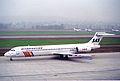 Scandinavian Airlines MD-87; LN-RMG@ZRH;26.01.1996 (5216855771).jpg