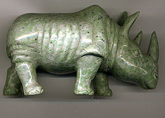 Image scanner - Scan of the jade rhinoceros seen in the photograph above