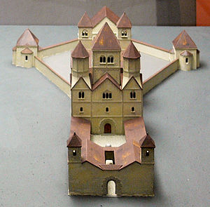 Architecture of Switzerland - Model of the first church at Schaffhausen