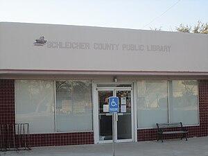 Schleicher County, Texas - Schleicher County Public Library in Eldorado