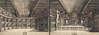 Schouwburg of Van Campen - Engravure of the Playhouse Van Campen in 1658 by Salomon Savery