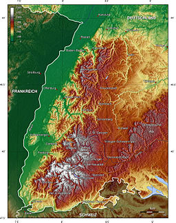 Topography of the Black Forest