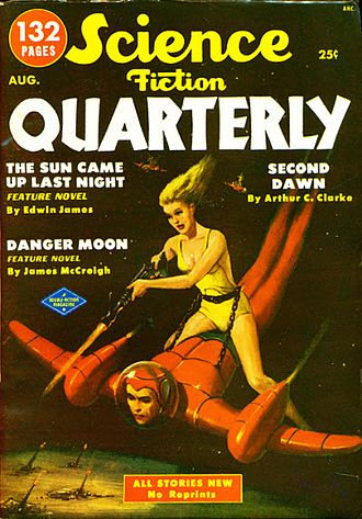 "Larry Shaw (editor) - Shaw's ""Seeds of Insecurity"" was the cover story on the August 1951 issue of Science Fiction Quarterly"